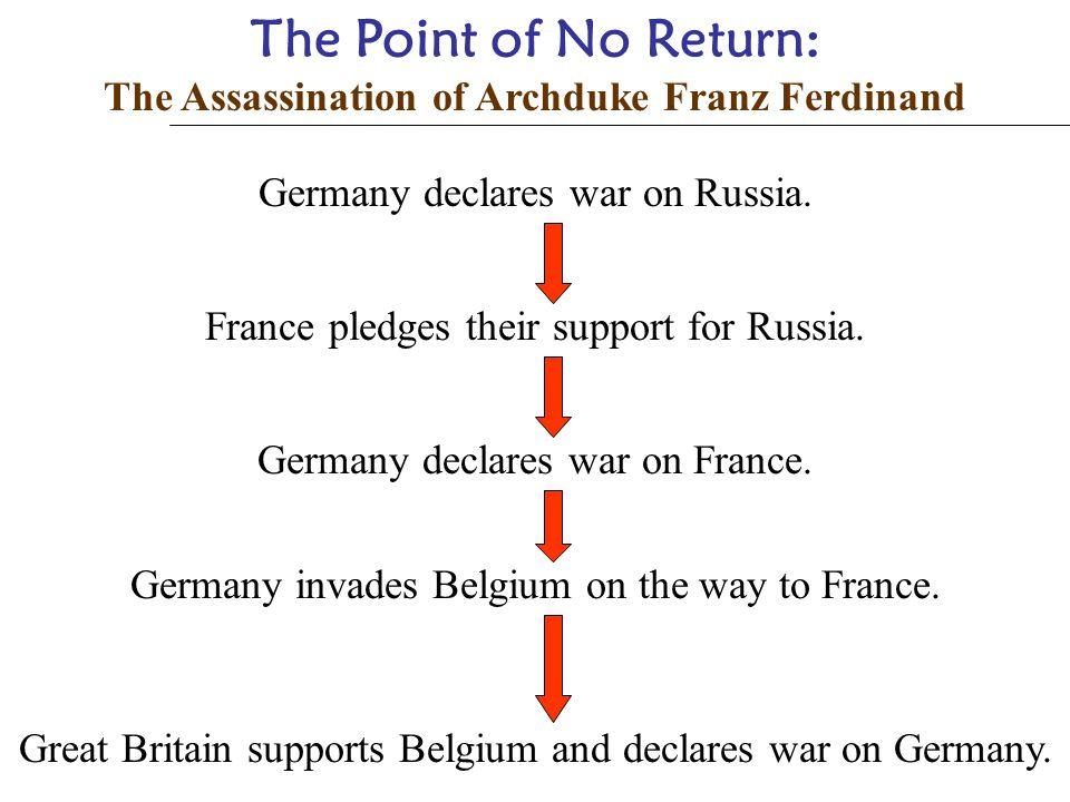 The Point of No Return: The Assassination of Archduke Franz Ferdinand Austria blamed Serbia for Franz Ferdinand's death and declared war on Serbia. Ge