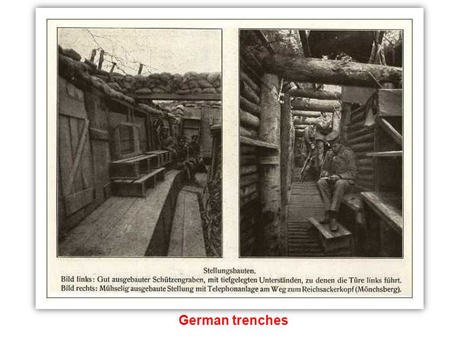 Trenches along the Western Front