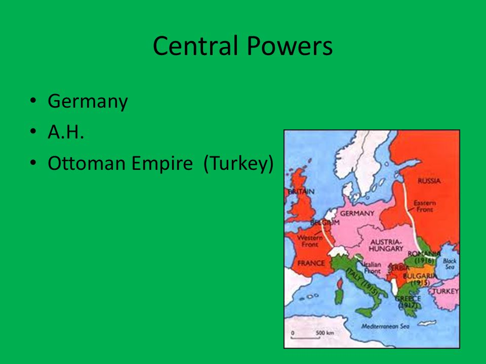 Central Powers Germany A.H. Ottoman Empire (Turkey)