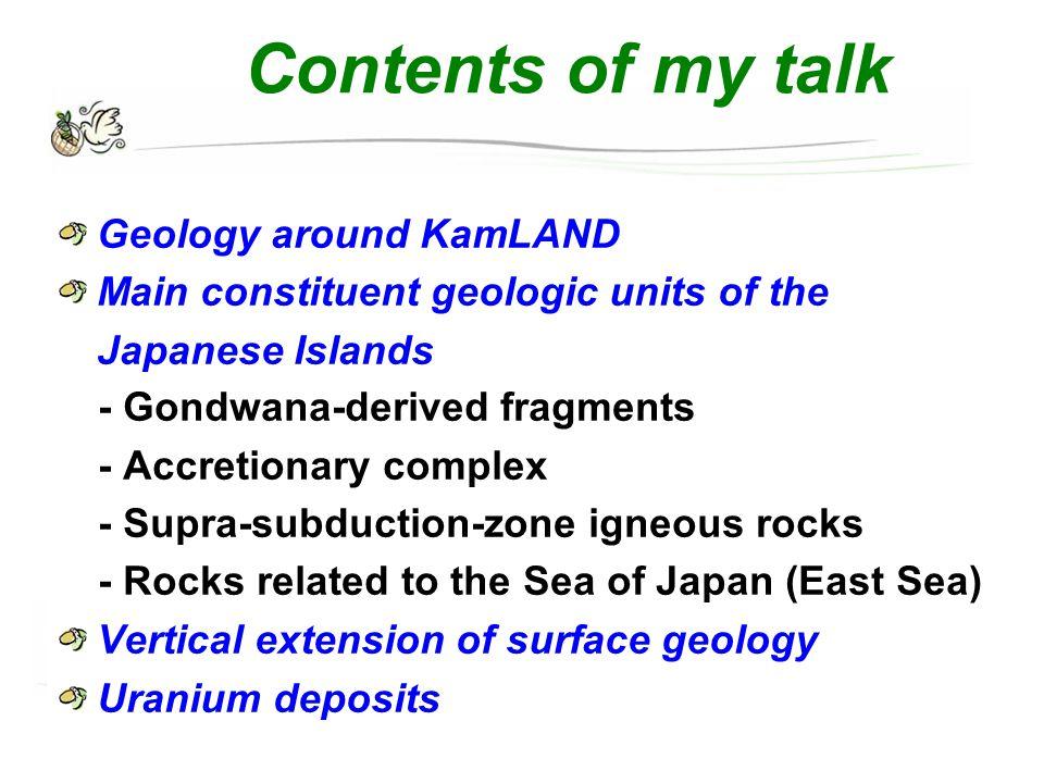 Surface geology around KamLAND : Uranium deposits KamLAND