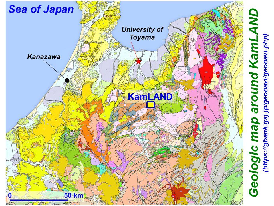 Rocks related to Gondwana-derived fragments (mainly 470–230 Ma (Myr ago)) KamLAND