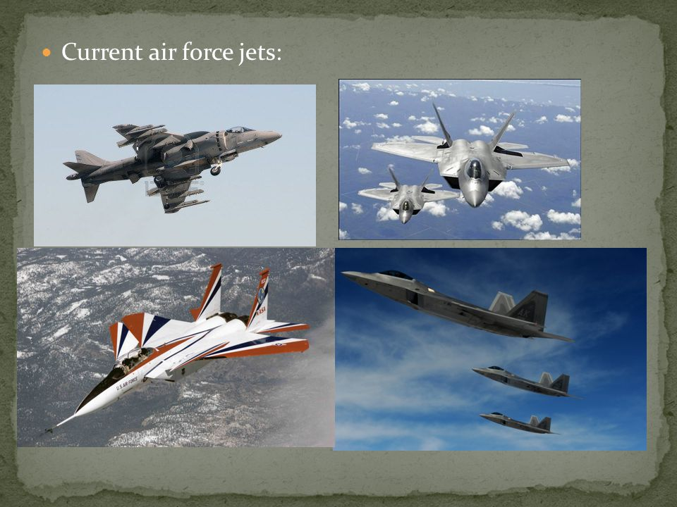Current air force jets: