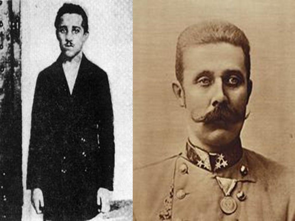 Assassination: June 28, 1914 Gavrilo Princip: Serbia Archduke Franz Ferdinand: Austria-Hungary