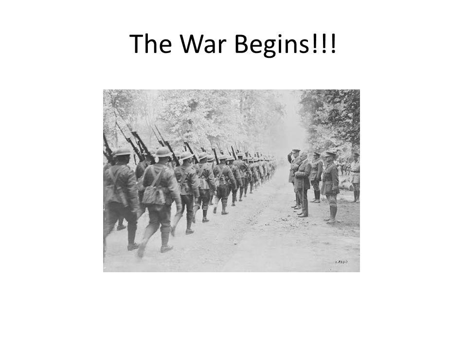 The War Begins!!!