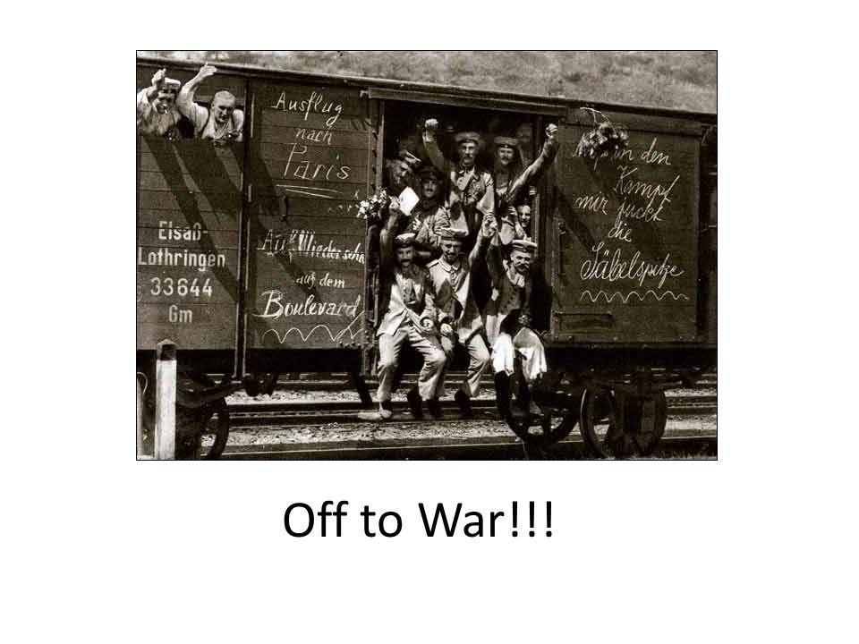 Off to War!!!