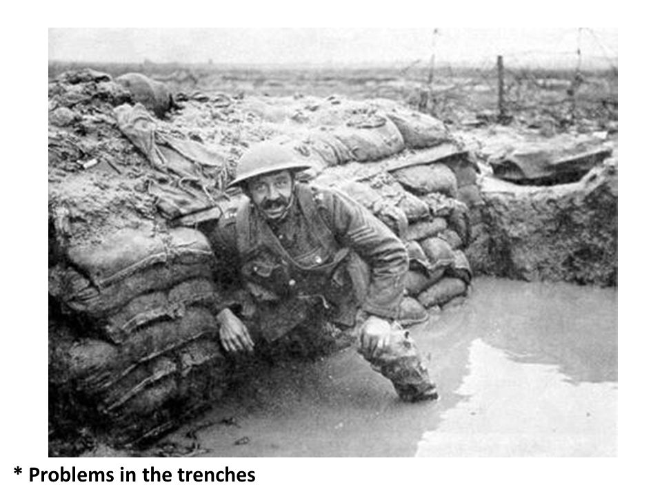 * Problems in the trenches