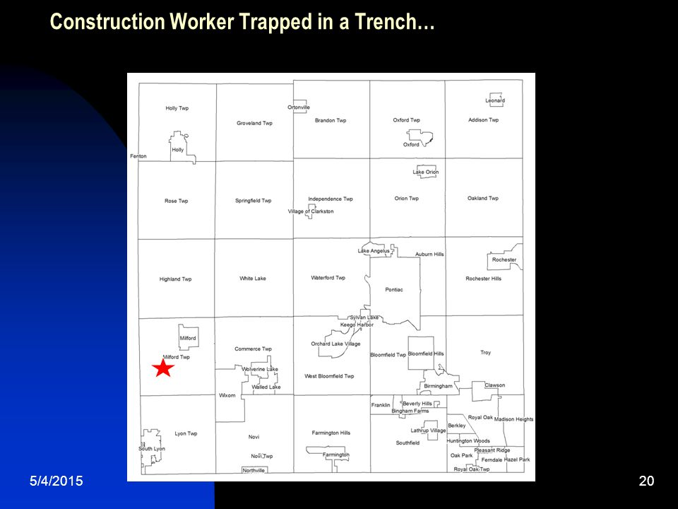 5/4/201520 Construction Worker Trapped in a Trench…