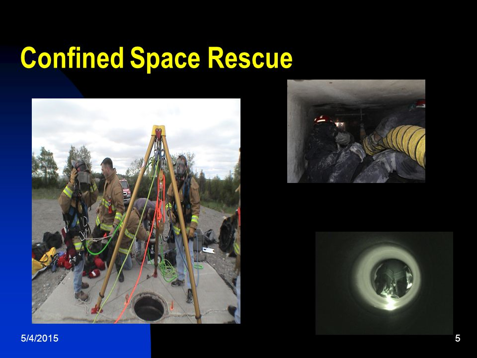 5/4/20155 Confined Space Rescue