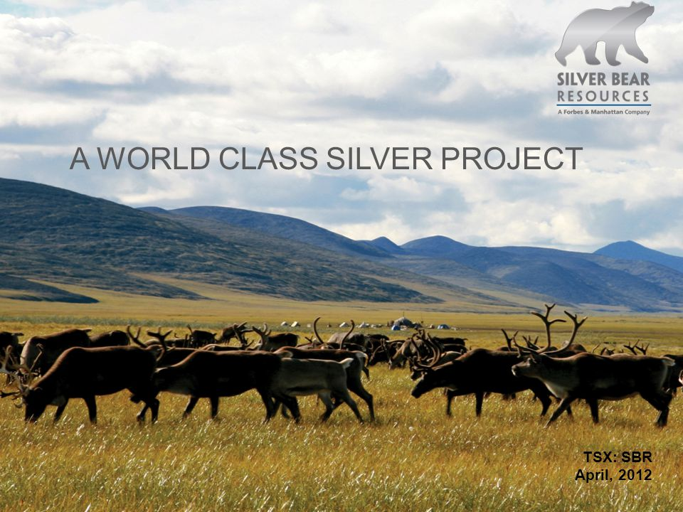 TSX: SBR April, 2012 A WORLD CLASS SILVER PROJECT