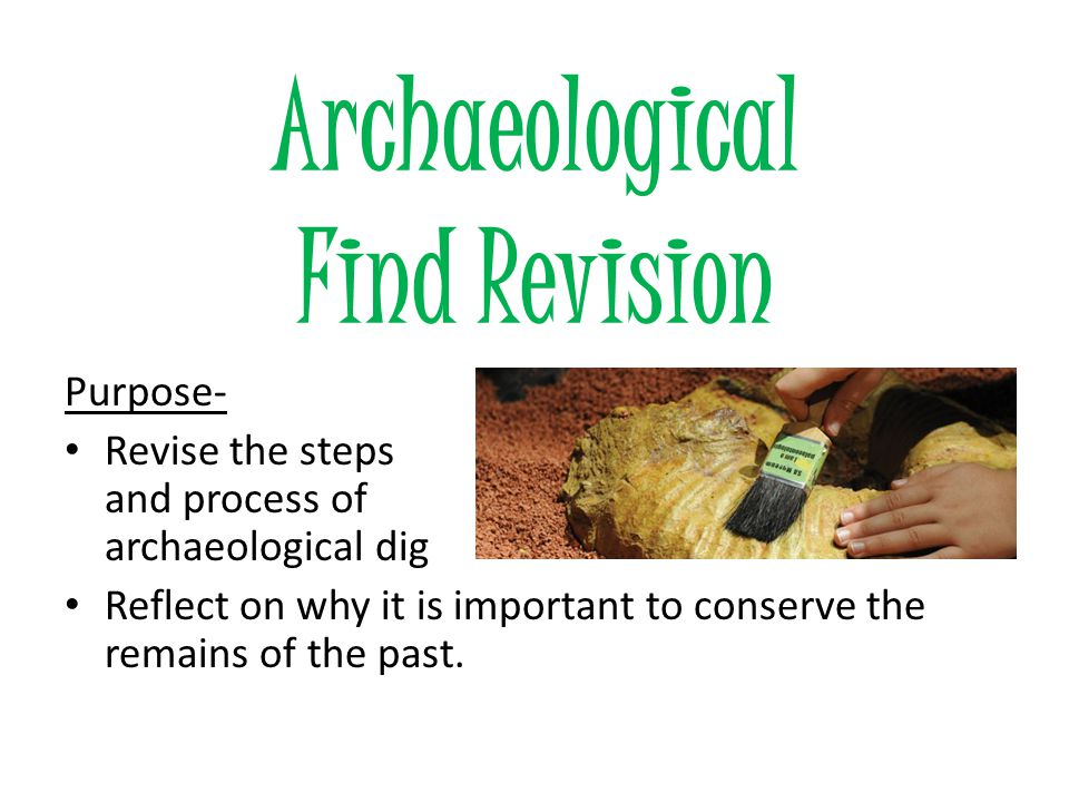 Finding Evidence from Archaeology Grade 7 History Term 1