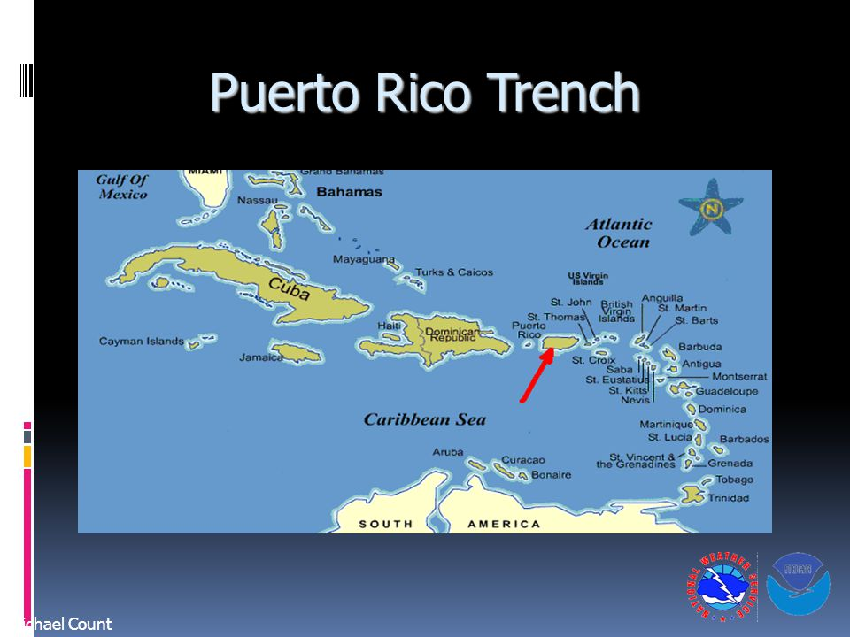 Puerto Rico Trench Michael Count