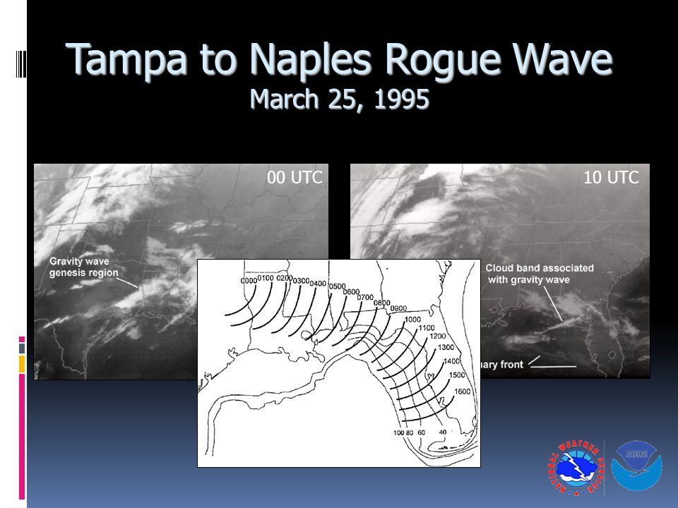 Tampa to Naples Rogue Wave March 25, 1995 00 UTC10 UTC