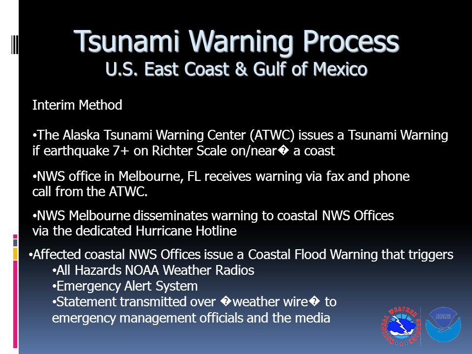 Tsunami Warning Process U.S.