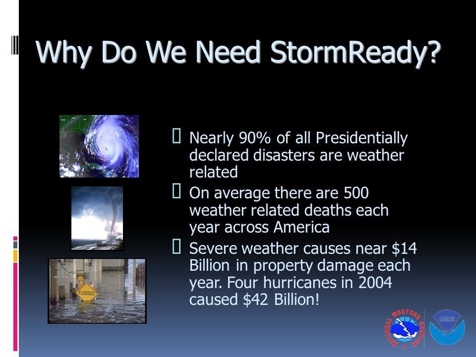 Why Do We Need StormReady.