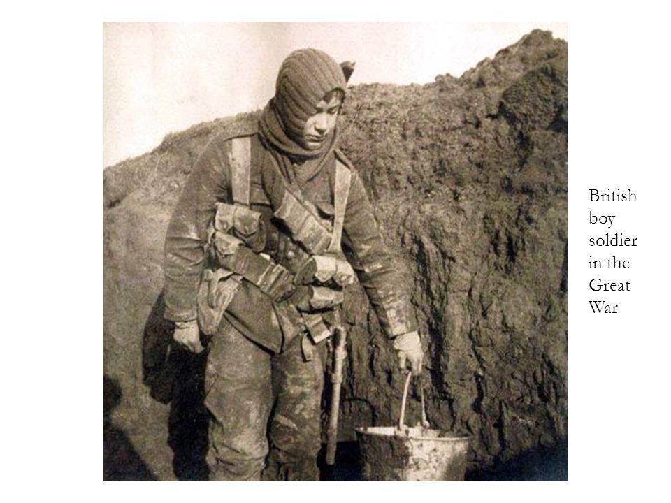 British boy soldier in the Great War