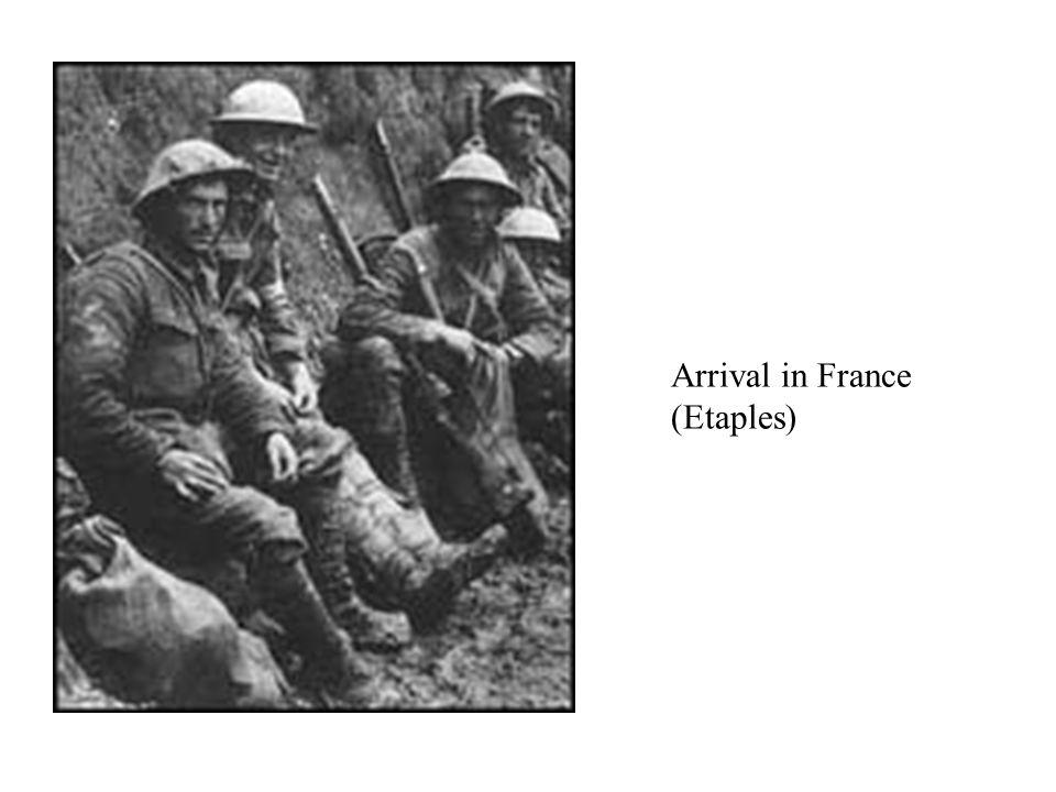 Arrival in France (Etaples)