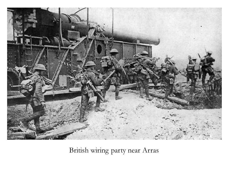 British wiring party near Arras