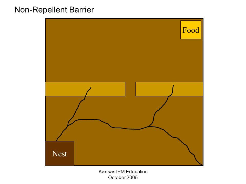 Kansas IPM Education October 2005 Nest Food Non-Repellent Barrier