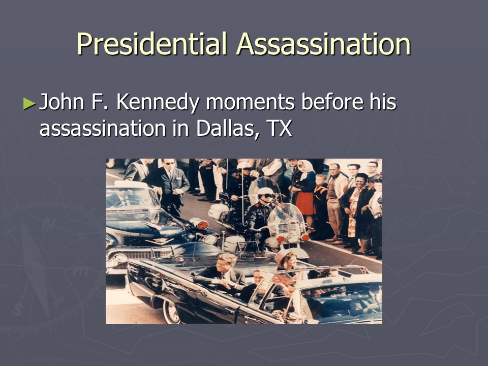 Presidential Assassination ► John F. Kennedy moments before his assassination in Dallas, TX