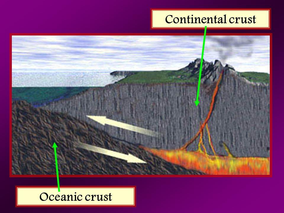 Continental crust Oceanic crust
