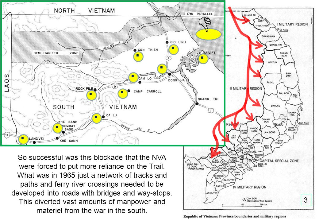 THIS SLIDE AND PRESENTATION WAS PREPARED BY DAVE SABBEN WHO RETAINS COPYRIGHT © ON CREATIVE CONTENT So successful was this blockade that the NVA were forced to put more reliance on the Trail.