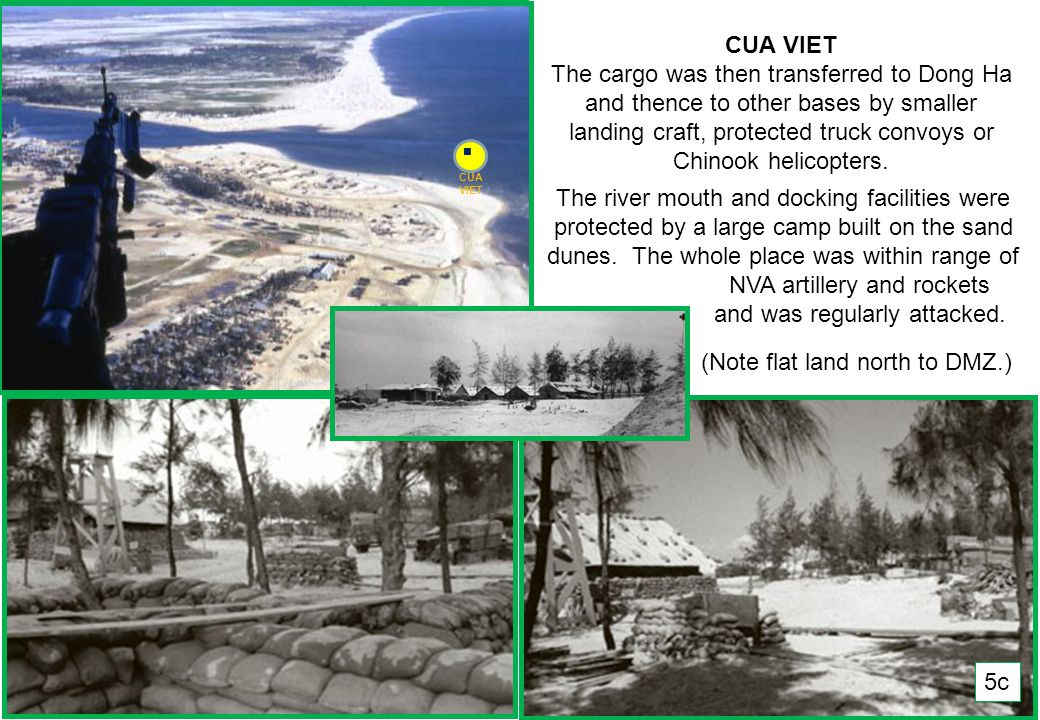 THIS SLIDE AND PRESENTATION WAS PREPARED BY DAVE SABBEN WHO RETAINS COPYRIGHT © ON CREATIVE CONTENT CUA VIET § § § § § § § § § § D OCEAN VIEW 10 Km up from the Cua Viet base was the northernmost permanently manned OP (Observation Post) in SVN.