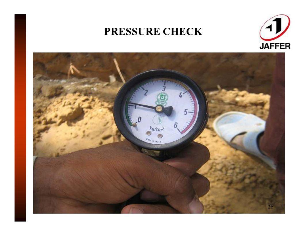 PRESSURE CHECK 26