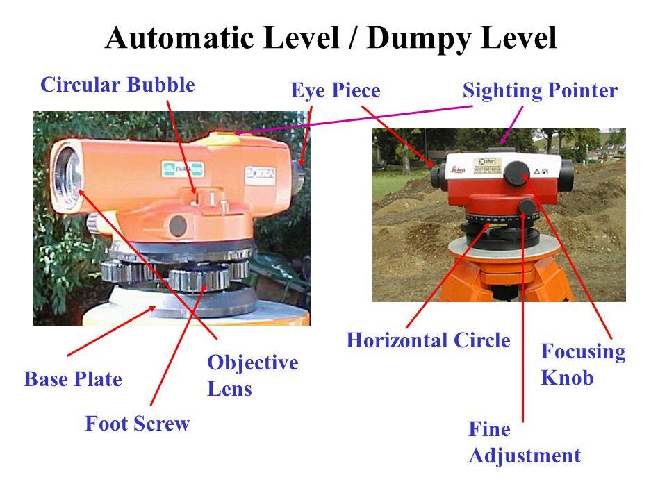 Laser Level Used similarly to a Dumpy level.
