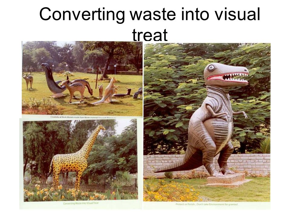 Converting waste into visual treat