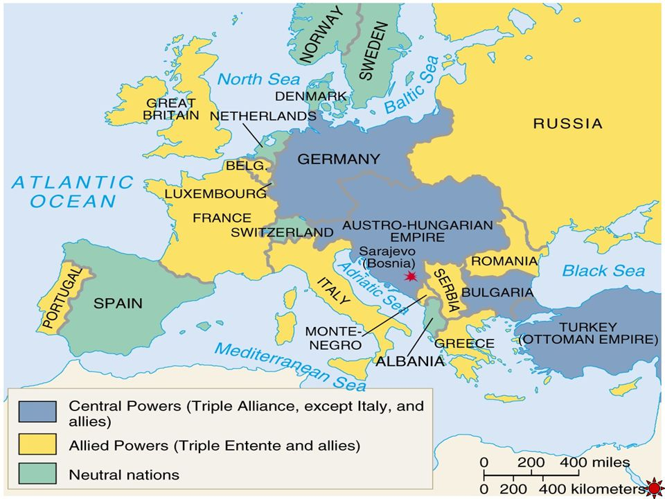 Two Armed Camps! Allied Powers Central Powers Great Britain France Russia Italy Germany Austrian- Hungarian Empire Turkey