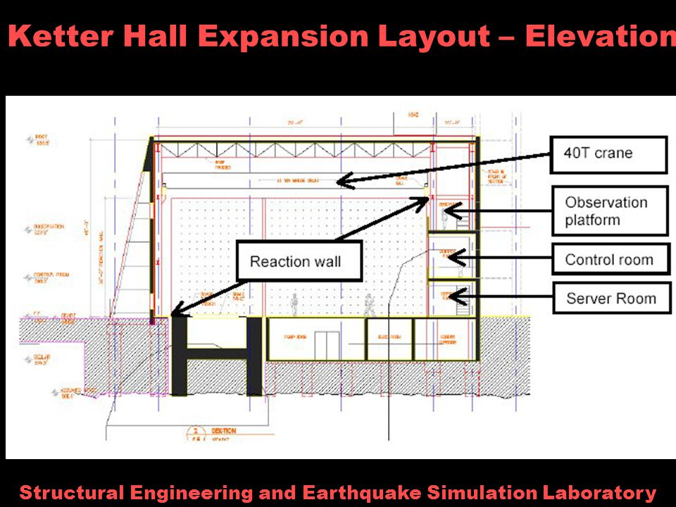Structural Engineering and Earthquake Simulation Laboratory Ketter Hall Expansion Layout – Elevation