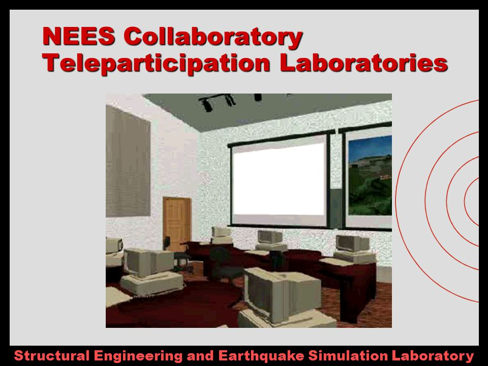 Structural Engineering and Earthquake Simulation Laboratory NEES Collaboratory Teleparticipation Laboratories