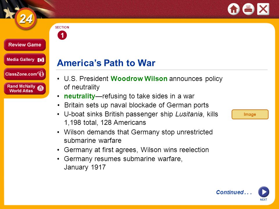 1 SECTION America's Path to War U.S.