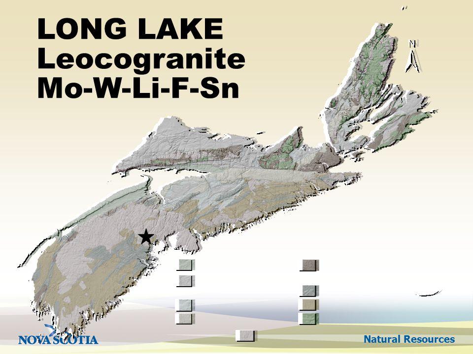 Natural Resources LONG LAKE Leocogranite Mo-W-Li-F-Sn