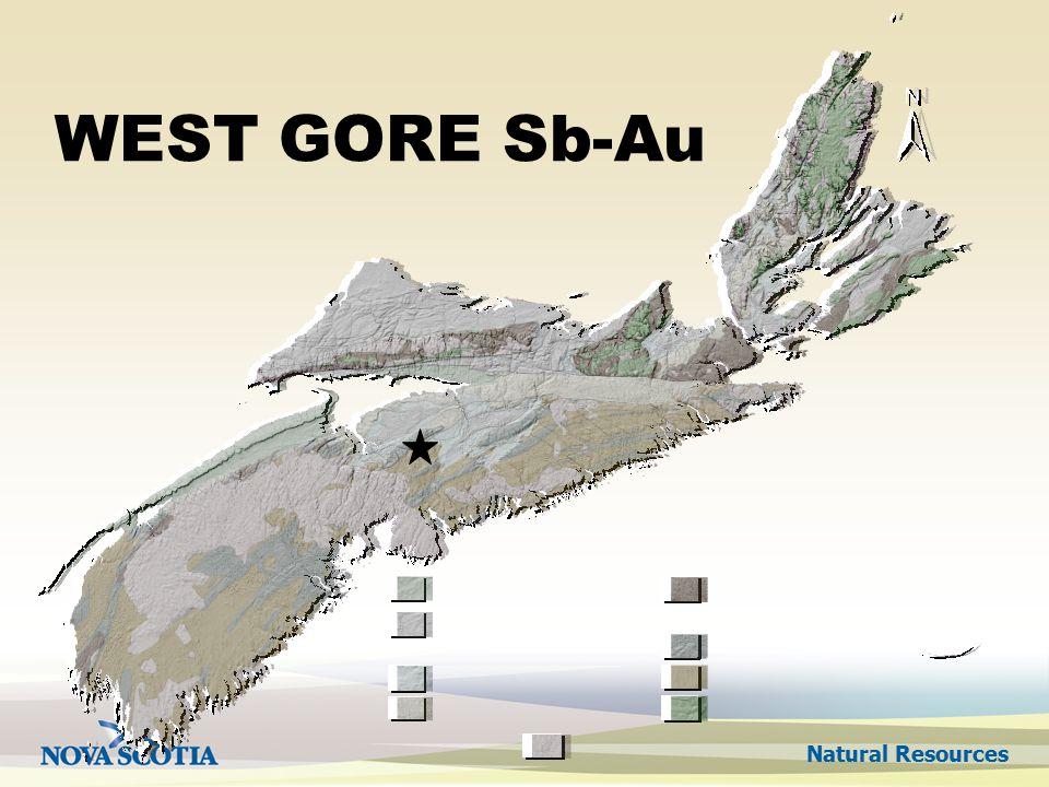 Natural Resources WEST GORE Sb-Au