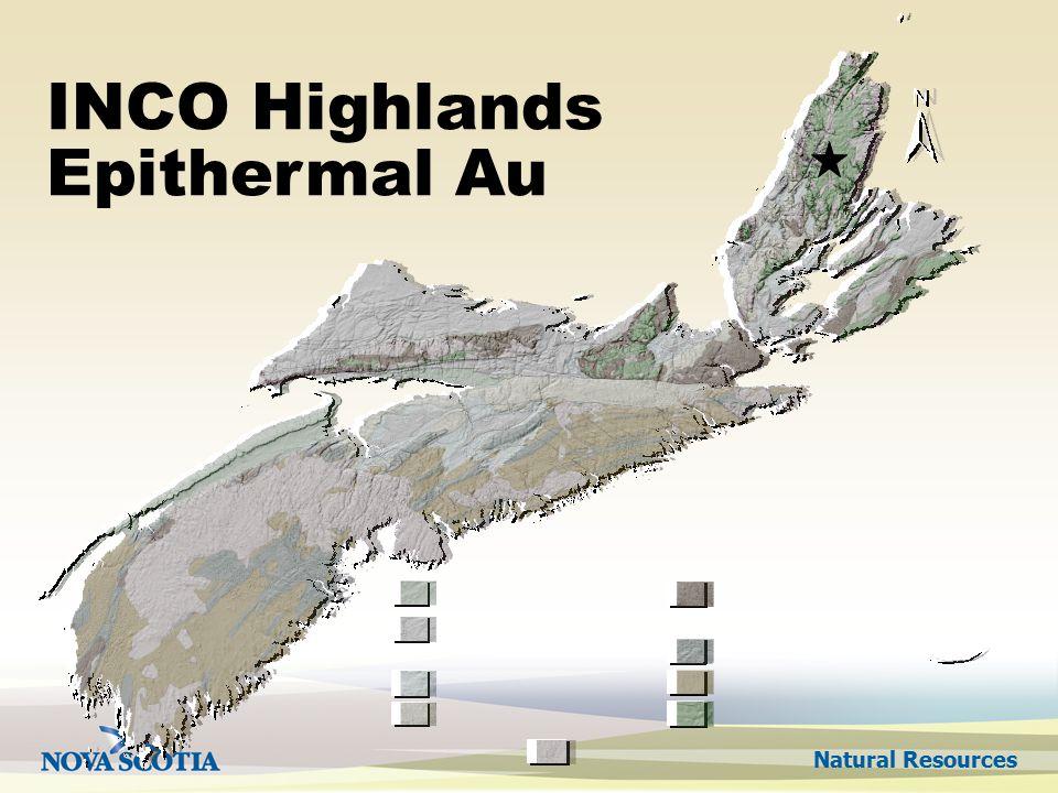 Natural Resources INCO Highlands Epithermal Au