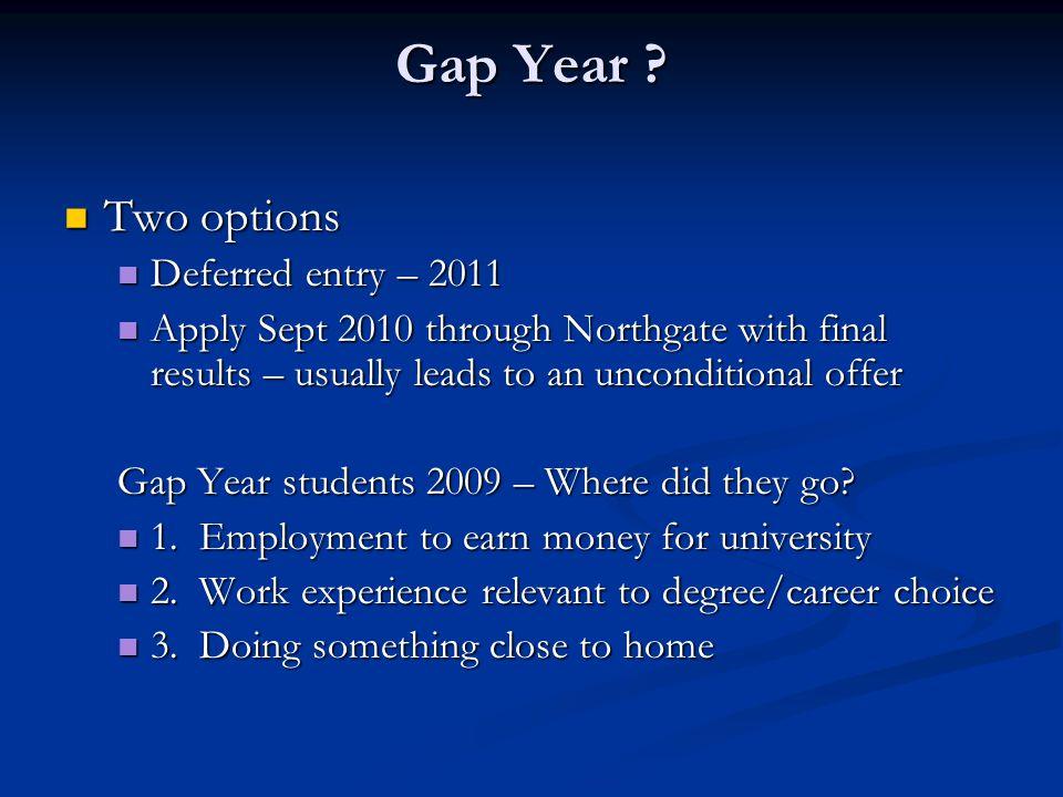 Gap Year .