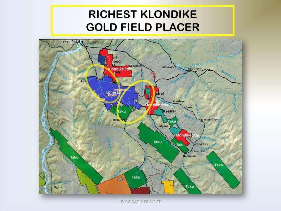 RICHEST KLONDIKE GOLD FIELD PLACER