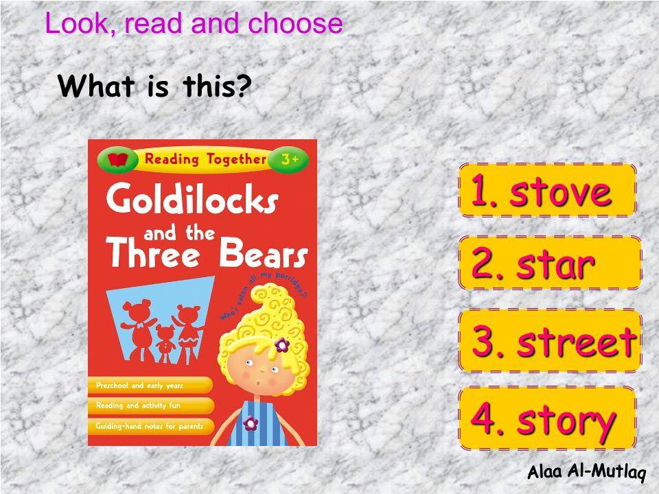 Look, read and choose 2. apple 2. apple 3. porridge 3.