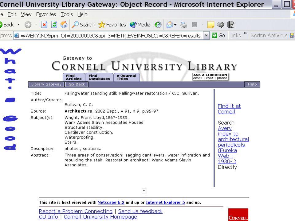 7 August 2003Cornell University Library11