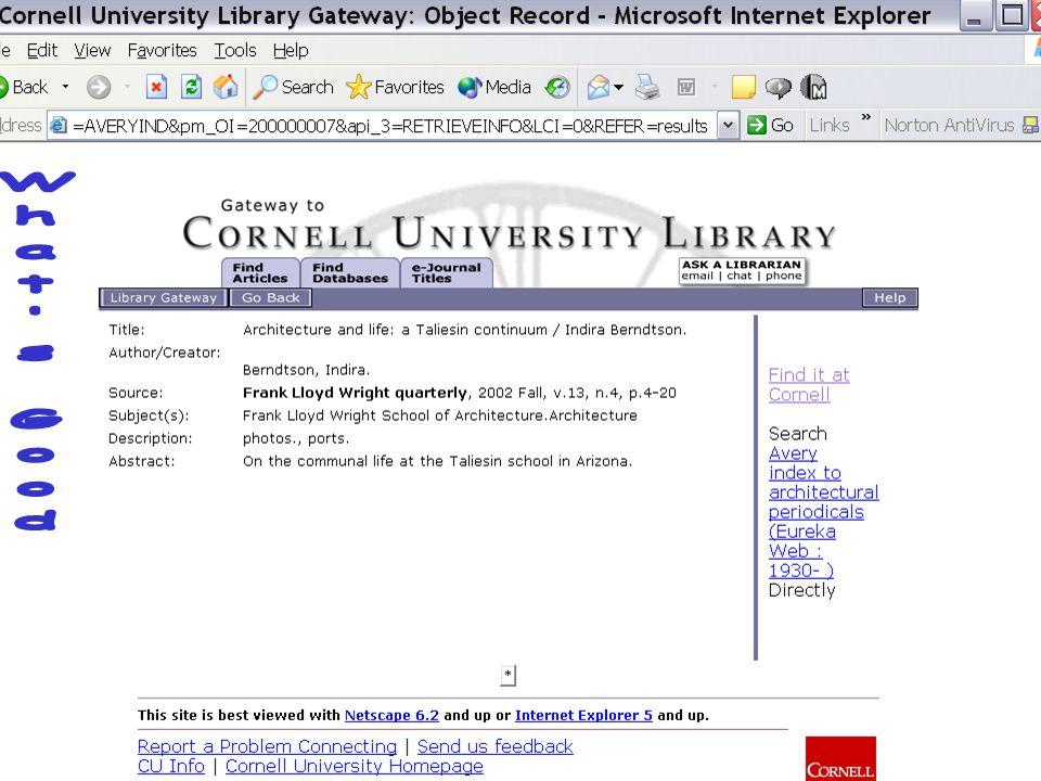 7 August 2003Cornell University Library8