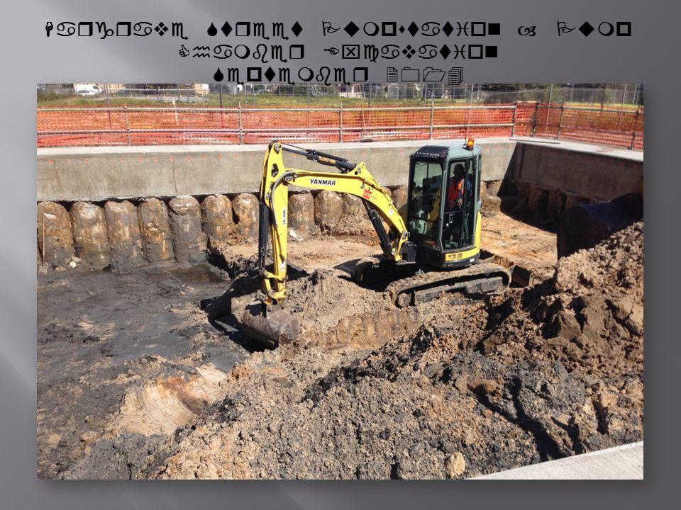 Hargrave Street Pumpstation – Pump Chamber Excavation September 2014