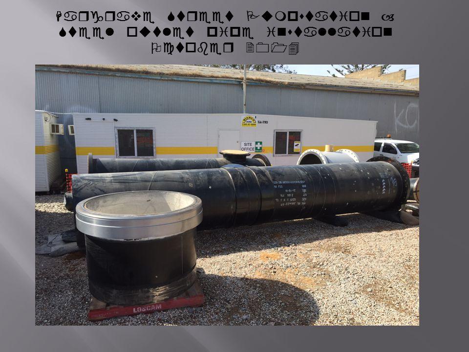 Hargrave Street Pumpstation – Steel outlet pipe installation October 2014
