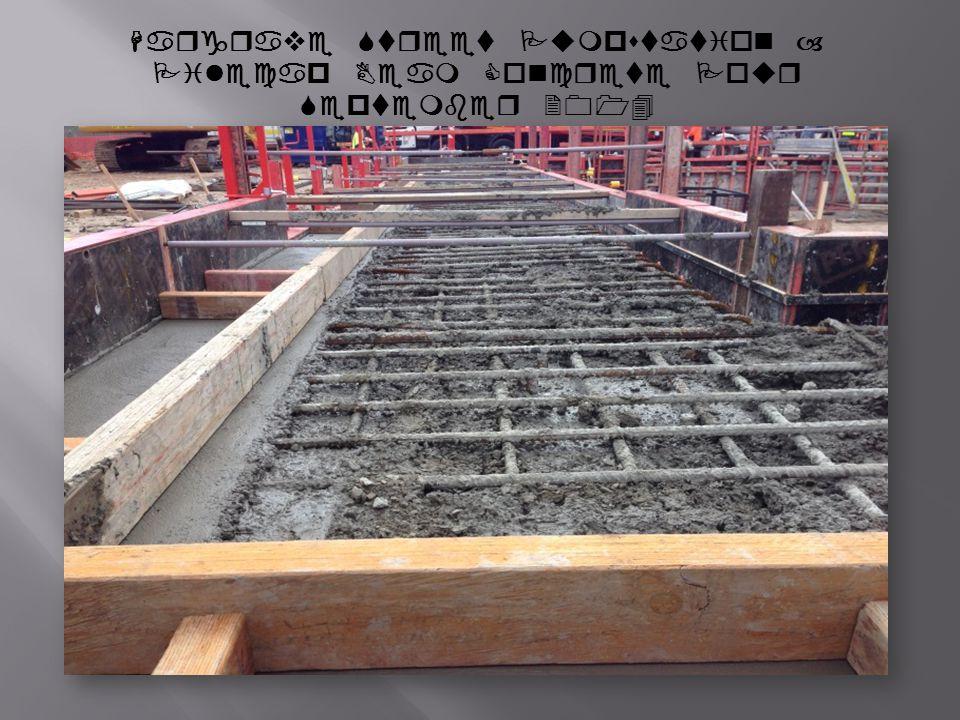 Hargrave Street Pumpstation – Pilecap Beam Concrete Pour September 2014