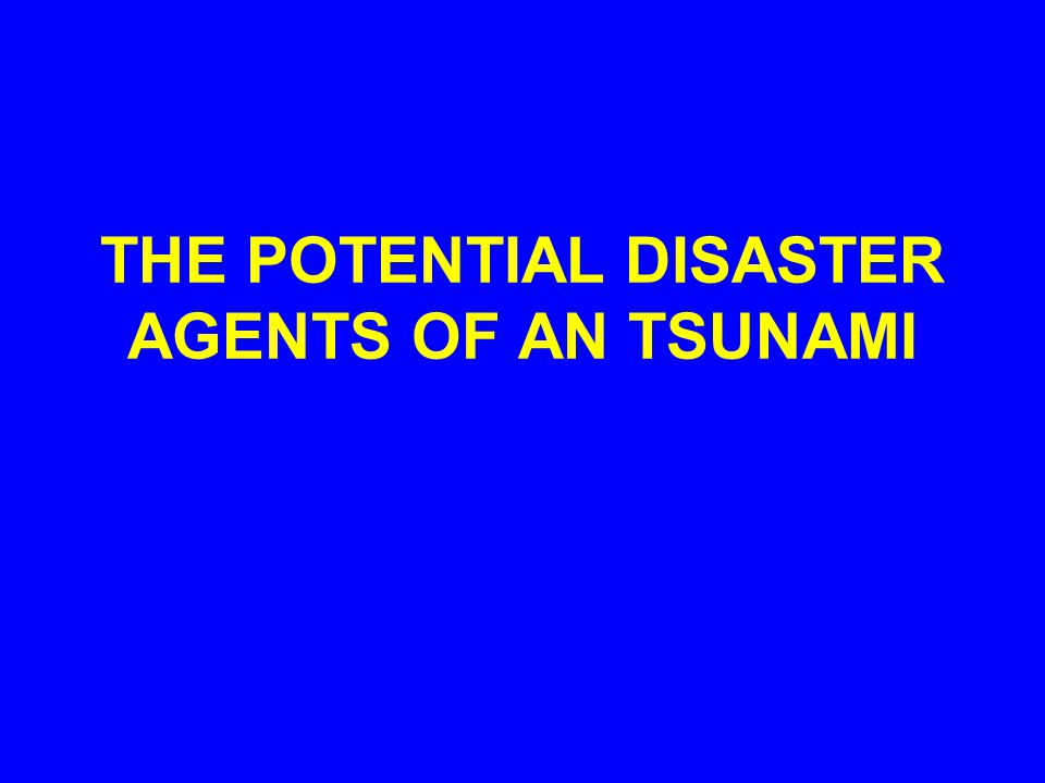 PHYSICS OF A TSUNAMI PHYSICS OF A TSUNAMI