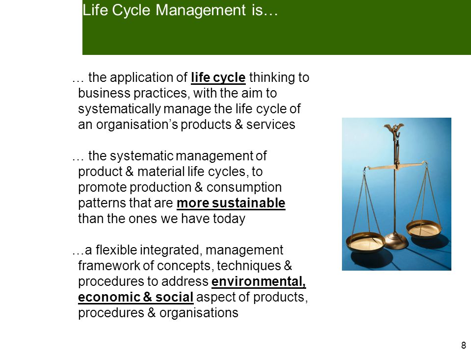 9 The life cycle