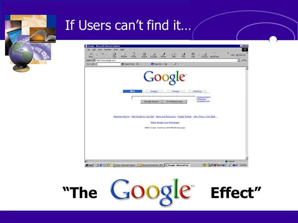 If Users can't find it… The Effect