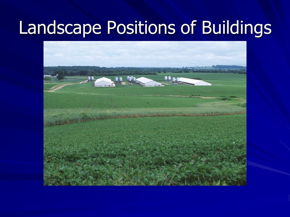 Landscape Positions of Buildings