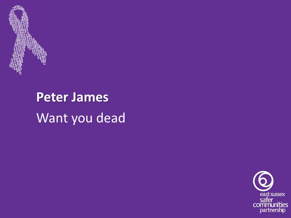 Peter James Want you dead