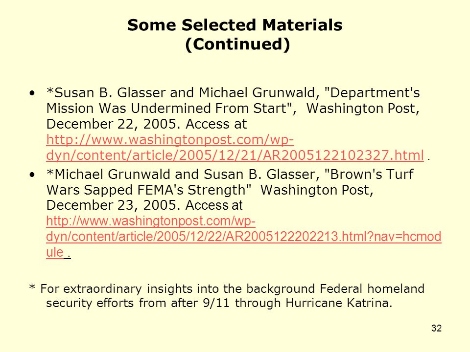 Some Selected Materials (Continued) *Susan B.